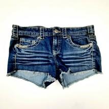 Mudd Denim Shorts Women's Juniors Size 11 Blue Cotton Blend DL28 - $8.90