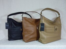 NWT Furla Cappuccino Pebbled Leather Jo Vertical Tote Bag image 12