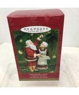 2001 Santa Sneaks a Sweet Cook Hallmark Christmas Tree Ornament MIB Pric... - $32.18