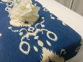 BLUE IKAT LINENS - Table runners, Napkins, placemats,  lake blue Ikat, wedding,  - $21.00