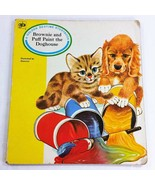 Brownie and Puff Paint Doghouse 1969 Vintage Golden Bedtime Board Book C... - $29.99