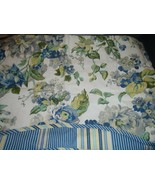 WAVERLY Blue Floral Engagement Window Valance - $23.08