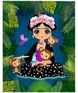 Frida Kahlo Jungle Monkeys Birds Edible Cake Topper Image ABPID00902 - 1... - $17.50
