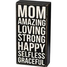 Primitives by Kathy 103471 Classic Box Sign, 4 x 8-Inches, Mom Amazing - $16.00