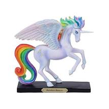 Pacific Giftware PT Official Rose Khan Rainbow Dancer Winged Unicorn Resin Figur - $59.39