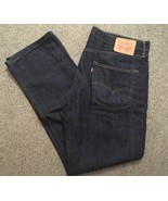 Levis 514 Mens Dark Indigo Blue Red Tab, Size 33x32 - $34.99
