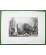 CONSTANTINOPLE Seven Towers Prison - BARTLETT Antique Print Engraving - $25.20