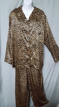 "Victoria's Secret Animal Print Pajama Set Long Sleeve Pants Sz Medium 46"" Bust - $24.99"