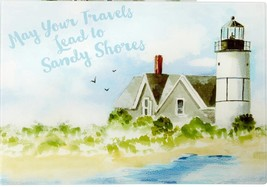 """Glass Cutting Board, Extra Long, Rectangle, 12"""" X 15"""", Lighthouse, Sandy Shores - $11.87"""