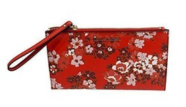 7dfa4a78b7fc MICHAEL Michael Kors Jet Set Travel Floral Leather Large Zip Clutch Red -  $113.85