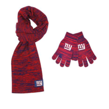 Officially Licensed NFL Colorblend Scarf and Texting Tip Glove Set NY GIANTS - $18.68