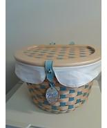Longaberger Bicycle Basket Combo Soft Aqua and Soft White - $475.15
