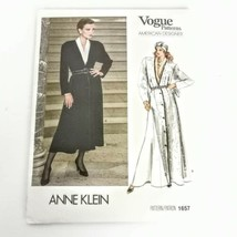 Vogue 1657 Anne Klein Size 8 Dress Coat American Designer Pattern Vtg 80... - $19.99