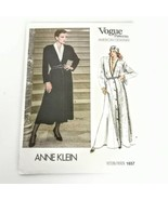 Vogue 1657 Anne Klein Size 8 Dress Coat American Designer Pattern Vtg 80... - $19.99