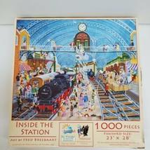 "SunsOut Inside The Station 1000 Piece Jigsaw Puzzle 23"" X 28"" Christian  - $9.99"