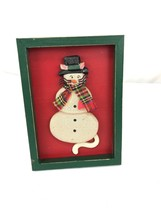 Christmas Mouse picture frame wooden - $10.00