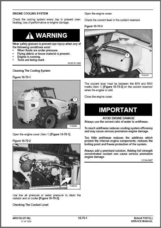Bobcat T3571 / T3571L Telescopic Forklift and 20 similar items