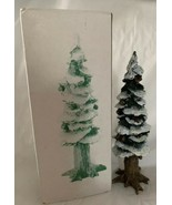 "Department 56 Pole Pine Tree w Base Christmas Village Accessory 56280 8""... - $13.36"