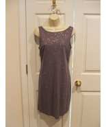 NEW IN  PKG JALATE AMETHYST SILVER SPARKLE SHEATH DRESS MADE IN USA SIZE 4 - $37.12