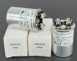 LOT OF 2 NEW BMI 800P106H44M25A4Z CAPACITORS 10uF 440VAC/B