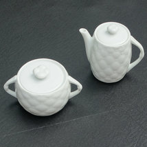 New Alessandro for Mikasa White Palladio Fine China Sugar Bowl and Creamer Set - $34.88
