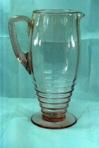 Cambridge 1930 Pattern 1921/45 Cascading Rings Pink Pitcher - $56.87