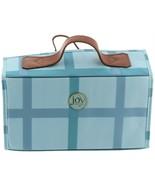 JOY Plaid Nylon Leather Lg Better Beauty Case Crystal Blue One Size NEW ... - $44.53