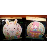 """LOT OF (2) Easter Cupcake Stand Holder 10"""" X 10"""" Bright Colors Heavy Car... - $8.90"""