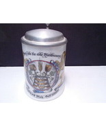 German Beer Stein ~ Zinn pewter lid Schrobenhausen Germany ~ Lions ~ read - $33.99