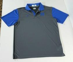 Nike Duke Blue Devils Logo Colorblock Stretch Polo Shirt Mens L Gray Bla... - $27.10