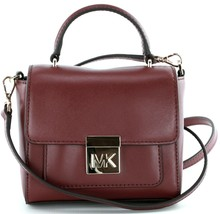 Michael Kors Cross Body Bag Mulberry Red Leather Small Mindy Handbag RRP... - $203.23