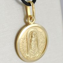 SOLID 18K YELLOW GOLD MADONNA OUR LADY OF LORETO PATRON AVIATION MEDAL, 19 MM image 3