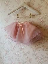 Baby GIRL Skirt Flower Girl Tutu Skirt Peach Toddler Tulle Skirt Baby Shower NWT image 4