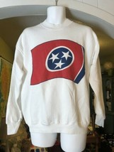 New Vintage 90's Fruit Of The Loom Sweatshirt Tennessee State Flag Size Large L - $59.39