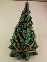 Sittre 1978 Ceramic Green Christmas Tree Figurine With Decor 14-Inch Tall - $65.95