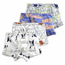 slaixiu Soft Cotton Kids Boxer Briefs Cartoon Boys Underwear Boxers 4-Pa... - $15.89