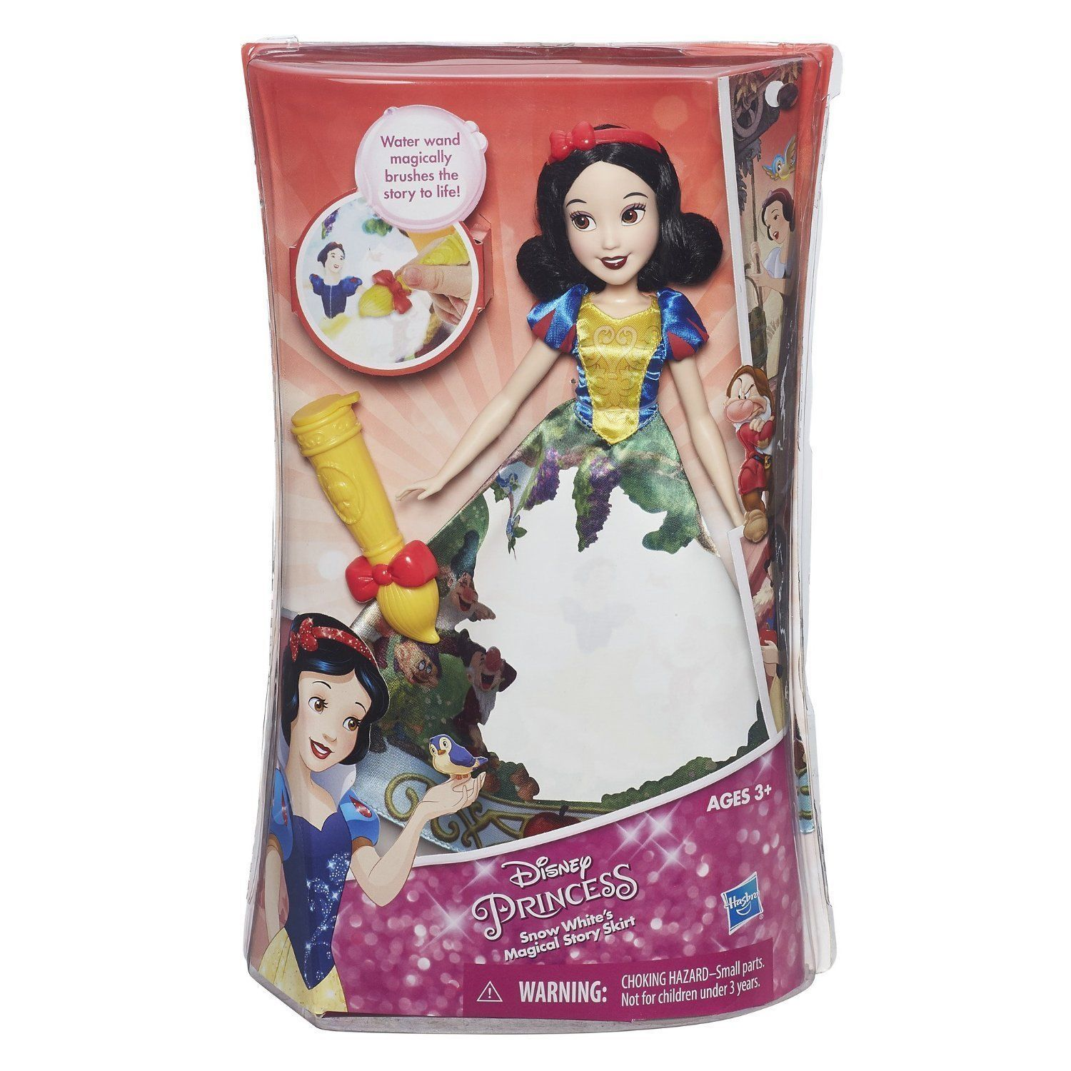 Image 2 of Disney Princess Snow White Magical Story Skirt Doll in Blue, Yellow by Hasbro