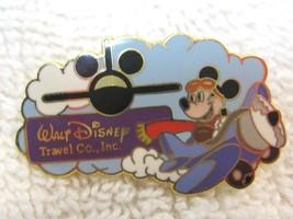Fun Travel Souvenir Pin Walt Disney Travel Co Mickey Mouse Flying Airplane NICE! - $9.41