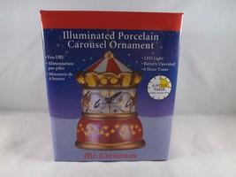 Mr. Christmas Illuminated Porcelain Ornament - New - Carousel - $16.14
