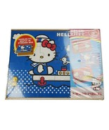 Hello Kitty 3 Wood Puzzles Set in Wooden Storage Box 24 Pieces Each New ... - $22.09