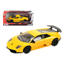 Lamborghini Murcielago LP 670 4 SV Yellow 1/24 Diecast Model Car by Moto... - $29.91