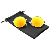 Premium Round Metal Mirrored Full Mirror Circle Sunglasses - $7.17+