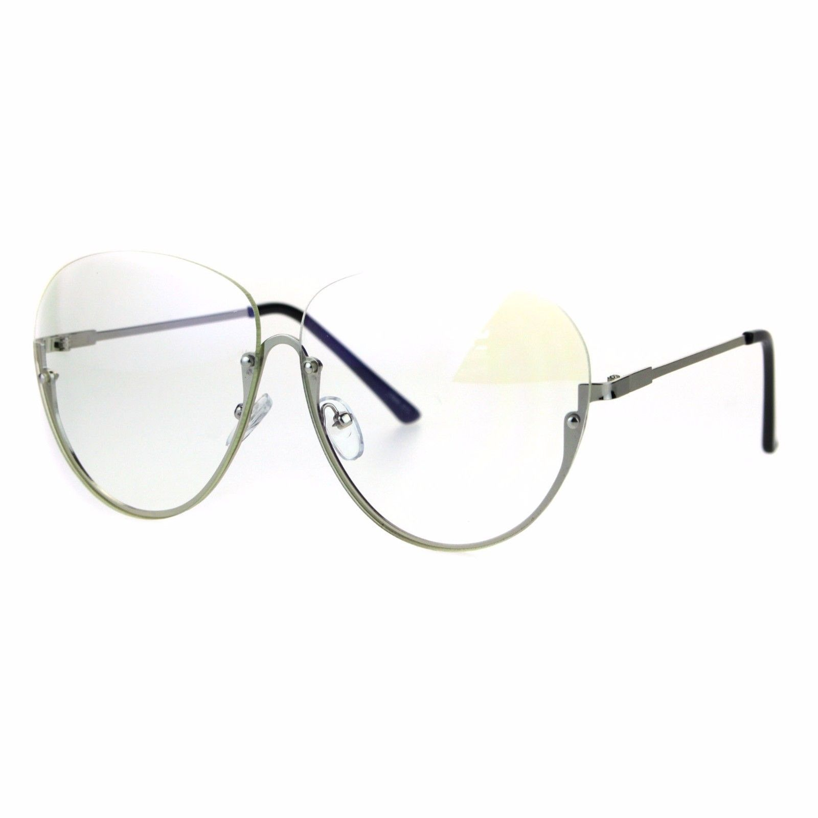19c61012b0155 Clear Lens Glasses Rimless Top Half Rim and 25 similar items