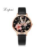 Lvpai® Women Bracelet Watch Fashion Rose Gold Flower Leather Simple Dres... - $5.22