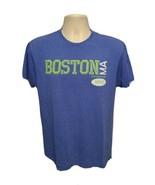 Boston Massachusetts established 1630 Adult Medium Blue TShirt - $19.80