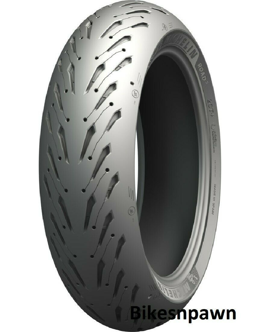 New Michelin Road 5 with 2CT+ 190/55ZR17 Rear Radial Motorcycle Tire 75W 03178