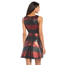 APT.9  womens Foil Jacquard Fit & Flare Dress red black sizes 4 6 8 - $15.99