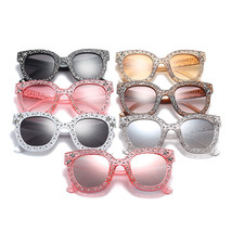 2018 Luxury Italian Brand Sunglasses Women Crystal Square Mirror Retro S... - $15.98