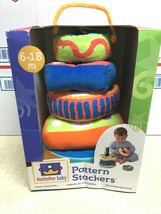 Vintage Manhattan Baby Pattern Stackers Plush Toy Vintage Rare 2001 NOS  - $100.00