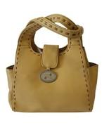 Ladies Handbag Purse, Light Carmel Color Who Dat Fleur De Lis Emblem Clo... - $15.36